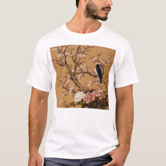 Vintage Old Japanese Painting of A Bird On A Tree T-Shirt