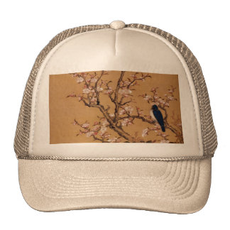 Vintage Old Japanese Painting of A Bird On Trees Trucker Hat