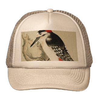 Vintage Old Japanese Painting of A Small Bird Trucker Hat