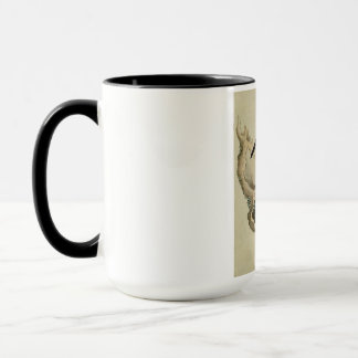 Vintage Old Japanese Painting of a Small Bird Mug