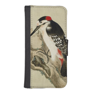 Vintage Old Japanese Painting of a Small Bird Phone Wallet Cases
