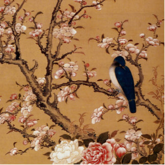 Vintage Old Japanese Painting of A Wild Bird Cutout