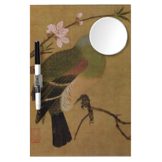 Vintage Old Japanese Painting of A Wild Bird Dry Erase Whiteboard