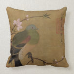 Vintage Old Japanese Painting of A Wild Bird Pillows