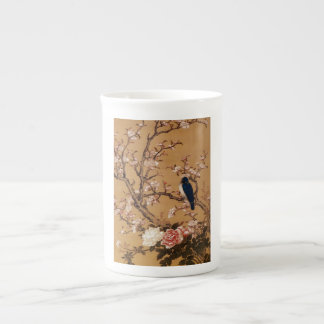 Vintage Old Japanese Painting of A Wild Bird Tea Cup