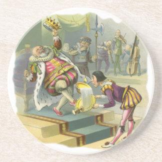 Vintage Old King Cole Nursery Rhyme Fairy Tale Beverage Coaster
