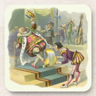 Vintage Old King Cole Nursery Rhyme Fairy Tale Beverage Coasters
