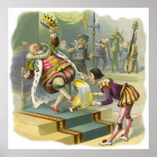 Vintage Old King Cole Nursery Rhyme Fairy Tale Print