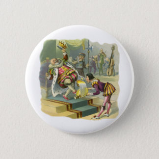 Vintage Old King Cole Nursery Rhyme Poem Song Button
