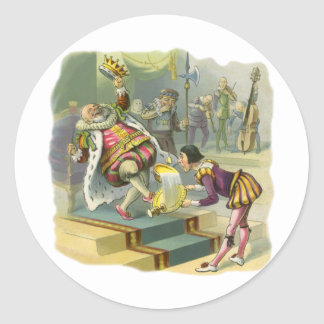 Vintage Old King Cole Nursery Rhyme Poem Song Classic Round Sticker