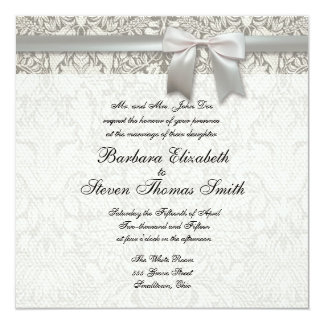 Vintage Old Lace Wedding Invitation Template