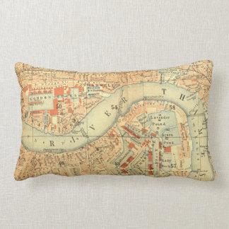 Vintage Old London River Thames Map print cushions
