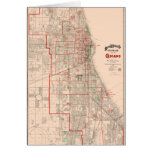 Vintage Old Map of Chicago - 1893