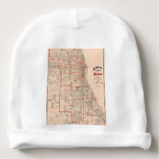 Vintage Old Map of Chicago - 1893 Baby Beanie