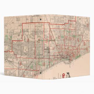 Vintage Old Map of Chicago - 1893 Binder