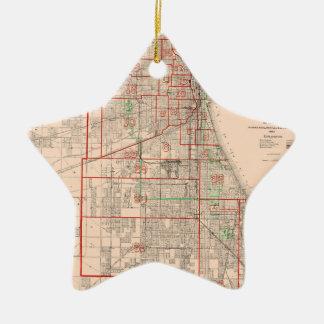 Vintage Old Map of Chicago - 1893 Ceramic Ornament