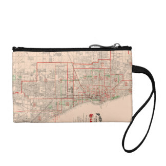 Vintage Old Map of Chicago - 1893 Change Purse