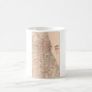 Vintage Old Map of Chicago - 1893 Coffee Mug