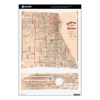 Vintage Old Map of Chicago - 1893 Decal For The Xbox 360 S