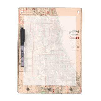 Vintage Old Map of Chicago - 1893 Dry-Erase Board