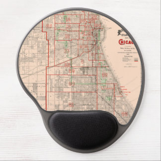 Vintage Old Map of Chicago - 1893 Gel Mouse Pad