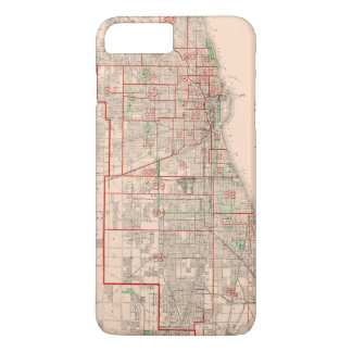 Vintage Old Map of Chicago - 1893 iPhone 7 Plus Case