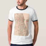 Vintage Old Map of Chicago - 1893 T-Shirt