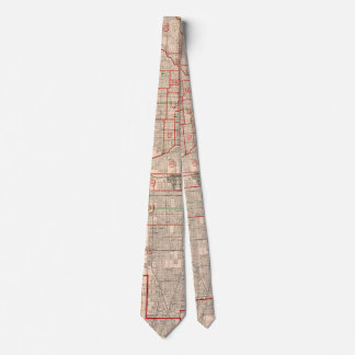 Vintage Old Map of Chicago - 1893 Tie