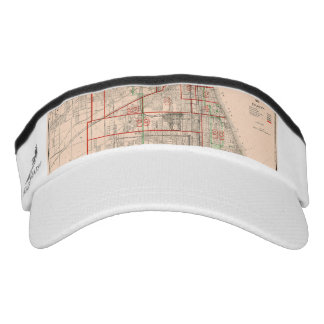 Vintage Old Map of Chicago - 1893 Visor