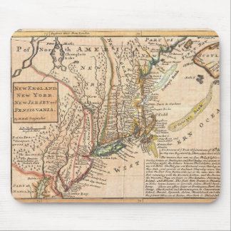 vintage old map of new york america mouse pad