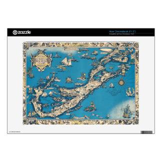 Vintage Old Map of the Bermuda Islands Acer Chromebook Decals