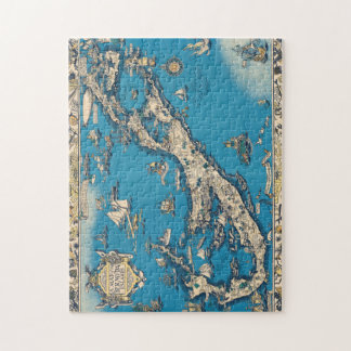 Vintage Old Map of the Bermuda Islands Jigsaw Puzzle
