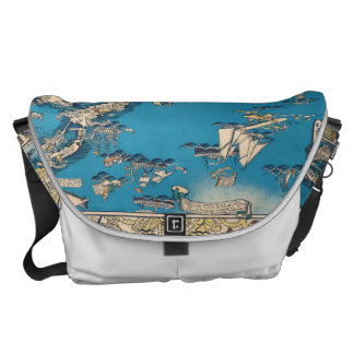 Vintage Old Map of the Bermuda Islands Messenger Bag