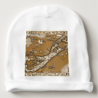 Vintage Old Map of the Bermuda Islands Sepia Tone Baby Beanie