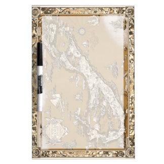 Vintage Old Map of the Bermuda Islands Sepia Tone Dry-Erase Board