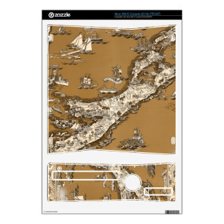 Vintage Old Map of the Bermuda Islands Sepia Tone Xbox 360 S Console Skins