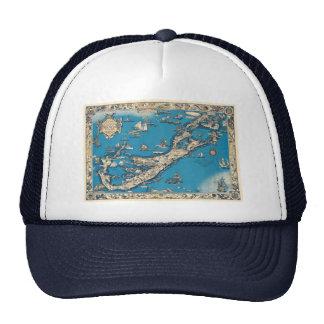 Vintage Old Map of the Bermuda Islands Trucker Hat