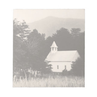 Vintage Old Mountain Church Memo Pad