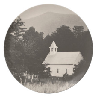 Vintage Old Mountain Church Dinner Plate