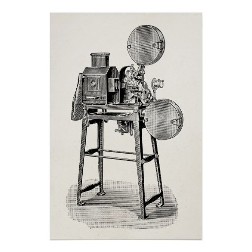 Vintage Old Movie Camera Cinematography Equipment Posters