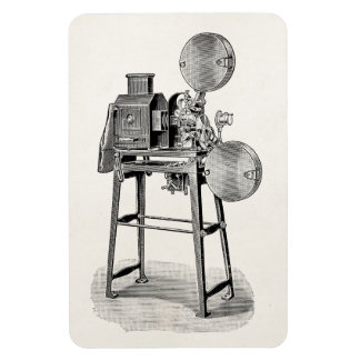 Vintage Old Movie Camera Cinematography Equipment Rectangular Photo Magnet