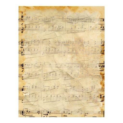 Vintage Old Music  Parchment Letterhead