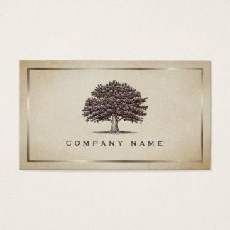 Vintage Old Oak Tree Elegant Business Card
