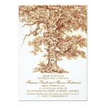 Vintage old oak tree rustic ENGAGEMENT PARTY 5x7 Paper Invitation Card