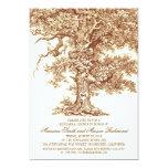 Vintage old oak tree rustic rehearsal dinner 5x7 paper invitation card