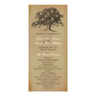 Vintage Old Oak Tree Wedding Collection - Program