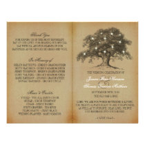 Vintage Old Oak Tree Wedding Collection - Program Flyer