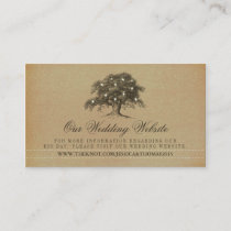 Vintage Old Oak Tree Wedding Website Enclosure Card