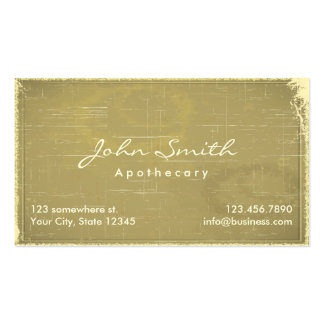 Vintage Old Paper Apothecary Business Card