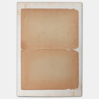 Vintage Old Paper Looking Brown Bifold Filo Post-it® Notes